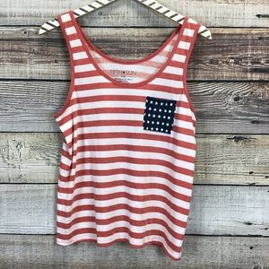 🌞🇺🇸Fifth Sun Large Americana Tank Top Red White